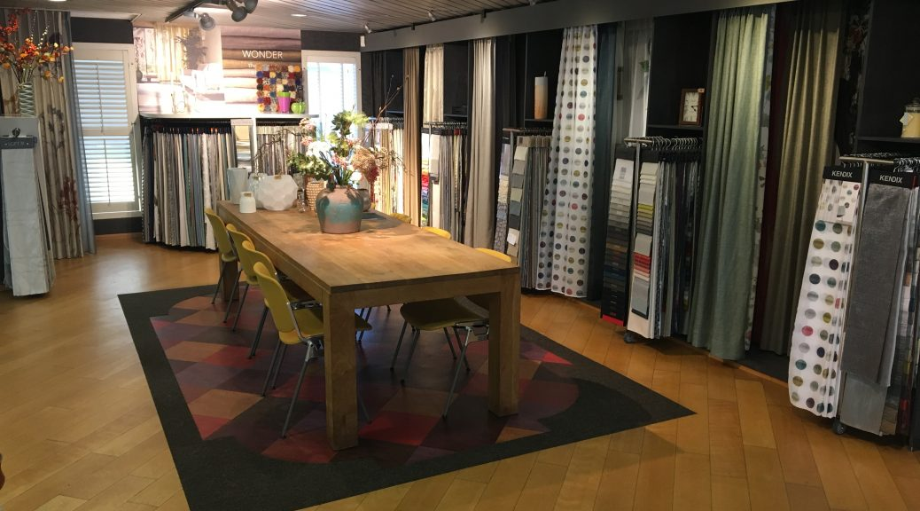 Gordijnen showroom